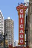 Ikonowy Chicagowski teatru znak Obraz Stock