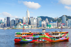 Ikonowy Gwiazdowy prom Krzyżuje Wiktoria schronienie w Hong Kong Obrazy Stock