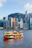 Ikonowy Gwiazdowy prom Krzyżuje Wiktoria schronienie w Hong Kong Fotografia Royalty Free