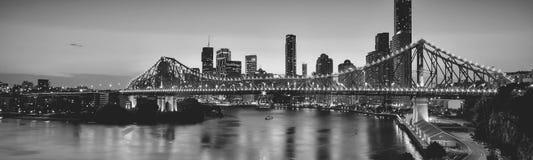 Ikonowy opowieść most w Brisbane, Queensland, Australia obraz royalty free