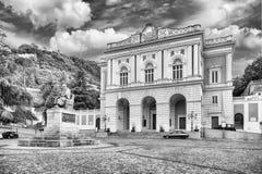 Ikonowy piazza XV marzo, stary miasteczko Cosenza, Włochy Zdjęcia Royalty Free