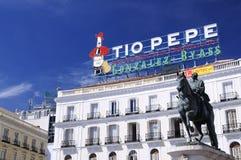 Ikonowy Tio Pepe znak Fotografia Stock