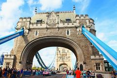 Ikonowy wierza most Londyn Zjednoczone Królestwo Obrazy Stock