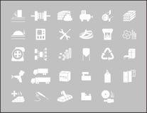 Ikons de Indastrial Imagem de Stock