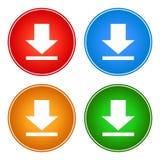 Ikony ściągania guzików sieci wektorowy kolor zdjęcie stock