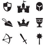 ikony średniowieczne royalty ilustracja