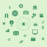 Ikony życie i istoty ludzkiej środowisko ilustracja wektor