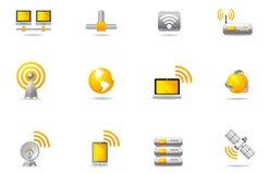 ikony 12 komunikacyjnego philos ustawiają wreless Fotografia Royalty Free