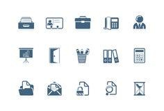 ikony 2 serii biurowej ilustracja wektor