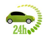 ikony 24 godzina Zdjęcia Stock