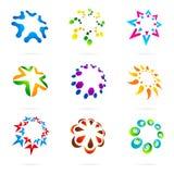 ikony abstrakcjonistyczna sieć Obrazy Royalty Free