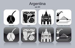 Ikony Argentyna ilustracja wektor