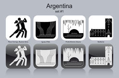 Ikony Argentyna royalty ilustracja