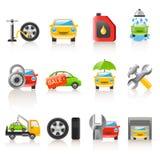 ikony auto usługa Fotografia Stock