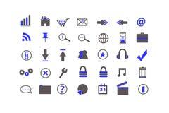 ikony błękitny sieć Zdjęcia Royalty Free