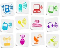 ikony bezprzewodowe ilustracji