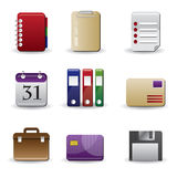 ikony biura set Zdjęcie Stock