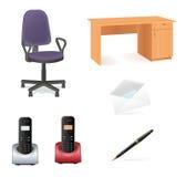 ikony biura set Zdjęcia Stock