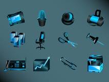 ikony biurowe Zdjęcie Royalty Free