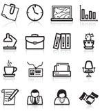 ikony biurowe Fotografia Stock