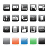 ikony biurowe Zdjęcia Stock