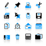 ikony biurowe Obrazy Stock