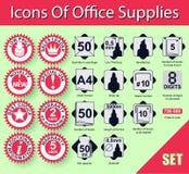 Ikony biurowe dostawy Obraz Royalty Free