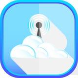 Ikony chmura Obrazy Royalty Free
