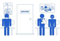ikony czekanie medyczny izbowy Obrazy Stock
