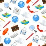 ikony deseniują bezszwową cechę ogólną Obraz Stock
