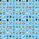 ikony deseniują bezszwową podróż Zdjęcia Royalty Free