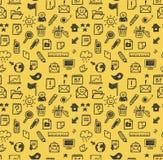 ikony deseniują bezszwową sieć Obrazy Royalty Free