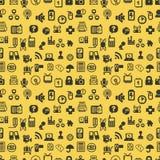 ikony deseniują bezszwową sieć Obraz Royalty Free