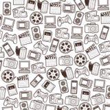 ikony deseniują bezszwową sieć Fotografia Stock