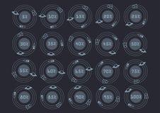 Ikony dla ściągania Astronautyczny projekt również zwrócić corel ilustracji wektora Obraz Stock
