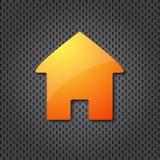 ikony domowa pomarańcze Obrazy Royalty Free