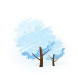 ikony drzewa zima ilustracji