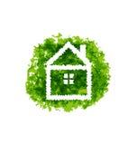 Ikony eco dom na grunge tle Zdjęcia Royalty Free