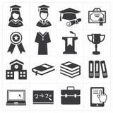 Ikony edukacja Zdjęcie Stock