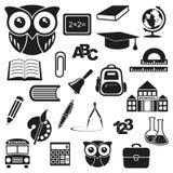 Ikony edukacja Zdjęcia Royalty Free