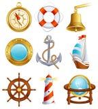 ikony żeglowanie Obrazy Royalty Free