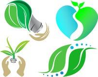 Ikony ekologii natury ilustracja Obrazy Royalty Free
