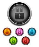 ikony elektryczna glansowana prymka Obrazy Stock