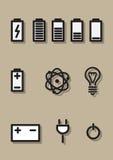 Ikony energetyczne Obraz Royalty Free