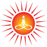 ikony energetyczny joga Fotografia Stock