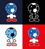Ikony futbolowi dopasowania Obrazy Royalty Free