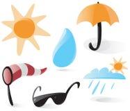 ikony gładzą pogodę ilustracji