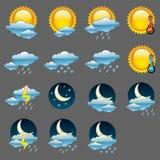 ikony glansowana pogoda Obrazy Stock