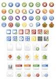 ikony glansowana sieć Zdjęcia Royalty Free