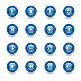 ikony glansowany odtwarzacz medialny Fotografia Royalty Free